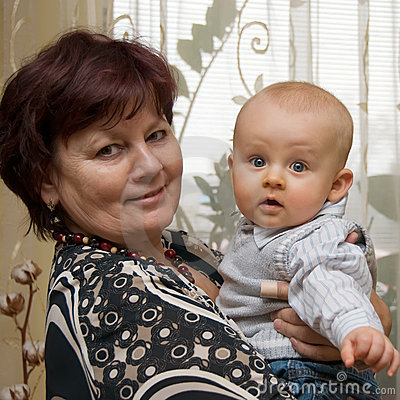Grandmother with grandson