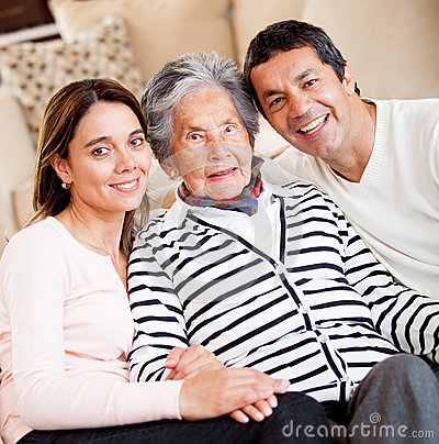 Grandmother with her family