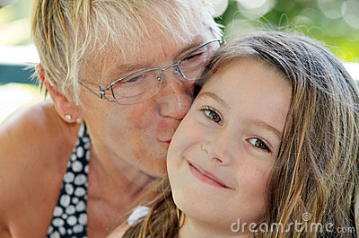 Grandmother kiss