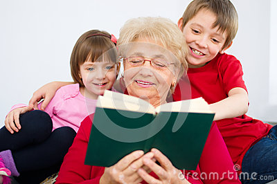 Grandmother reading