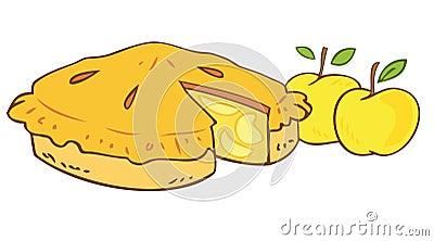 Grandmother`s apple tart.