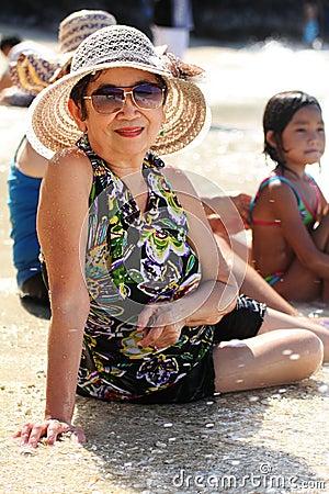 Grandmother on vacation