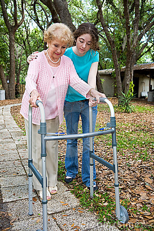 Grandmother with Walker