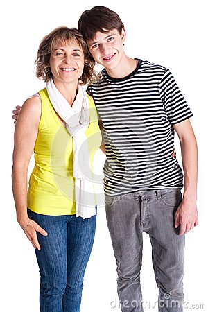 Grandmother with young grandson