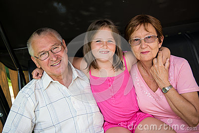Grandparents with grandchild