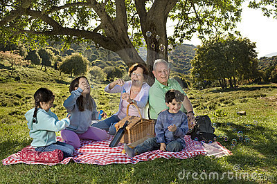 Grandparents grandchild picnic