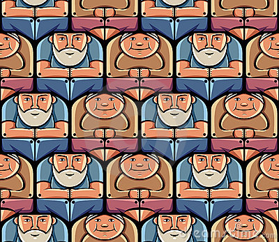 Grandparents seamless pattern.