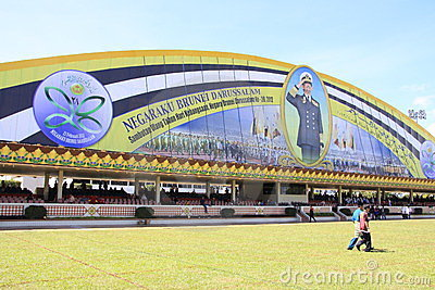 The grandstand at the Brunei s national day 2012 Editorial Image
