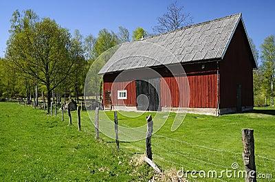 Granero sueco para el ganado