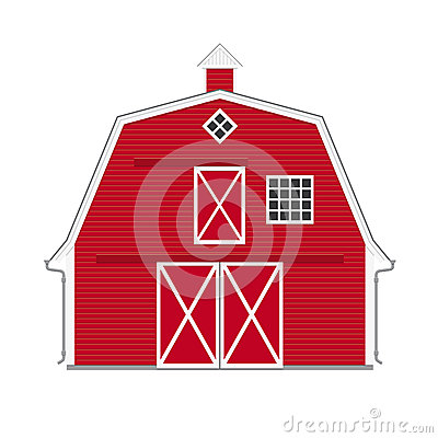 grange rouge am ricaine traditionnelle d 39 isolement illustration de vecteur image 43173848. Black Bedroom Furniture Sets. Home Design Ideas