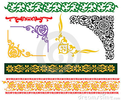 Granic islamski malay ornament