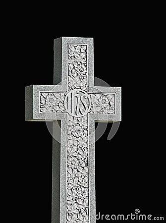 Granite Cross on Black