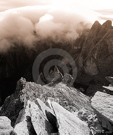 Granite mountain landscape - Mount Kinabalu