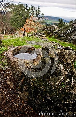 Granite parapet