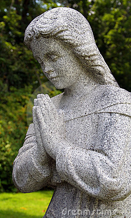 Granite Praying Statue