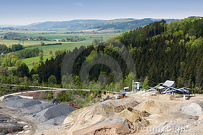 Granite quarry mining