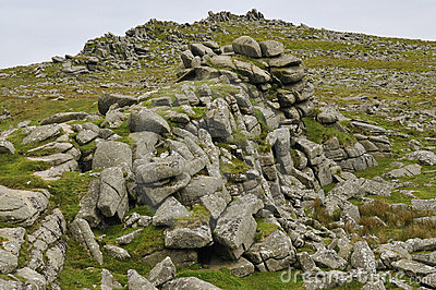 Granite rocks of Belstone Tor