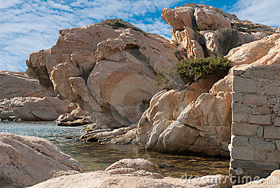 Granite rocks in Sardinia