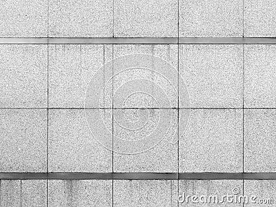 Granite slab wall