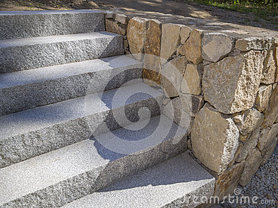 Granite stairs or steps