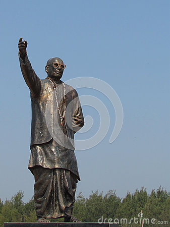 Granite statue of a polician and leader