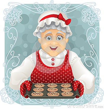 Free Granny Baked Some Cookies Royalty Free Stock Images - 35409519
