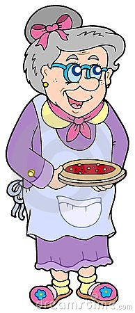 Granny with cake