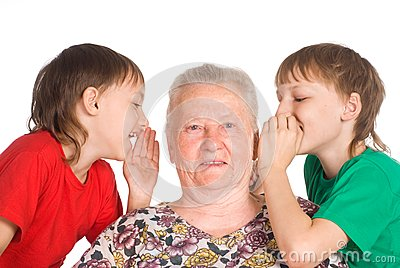 Granny with grandsons
