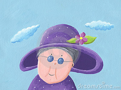 Granny with hat