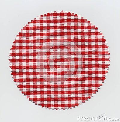 Granny jam checkered fabric cloth