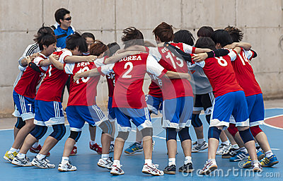 Granollers CUP 2013. Korea Team Editorial Photography