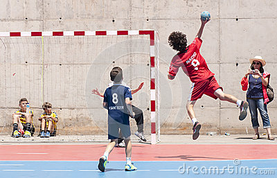 Granollers CUP 2013. Player shooting the ball Editorial Stock Photo