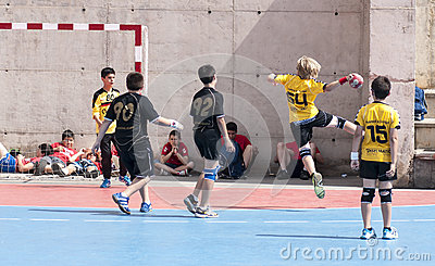 Granollers CUP 2013. Player shooting the ball Editorial Photo
