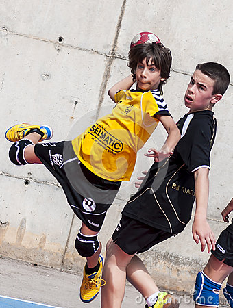 Granollers CUP 2013. Player shooting the ball Editorial Stock Image