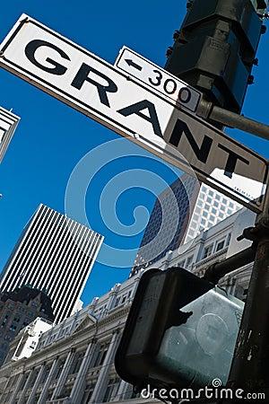 Grant Avenue street sign