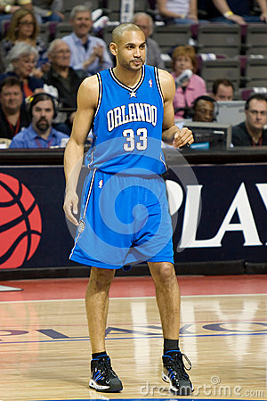 Grant Hill At Center Court Editorial Stock Image