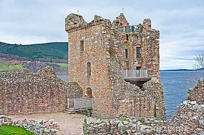 Grant Tower and Loch Ness.