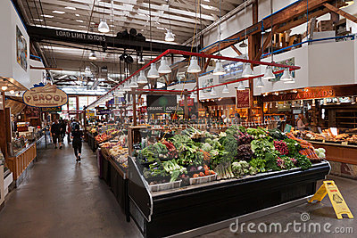 Granville Island Food Market Vancouver Editorial Stock Photo