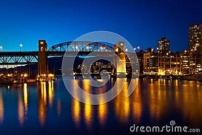 Granville Street Bridge, Vancouver, BC  sunset