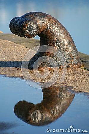 Grapa del muelle del puerto de Poole