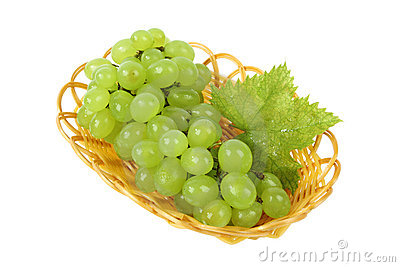 Grape in the basket