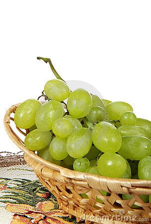 Grape in basket