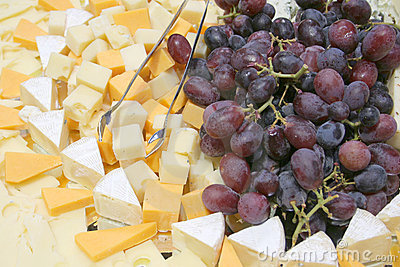 Grape cheese platter