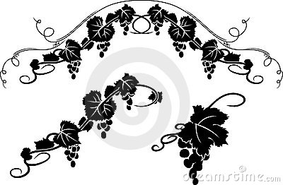Grape Decorative Stencil Stock Image - Image: 21147281