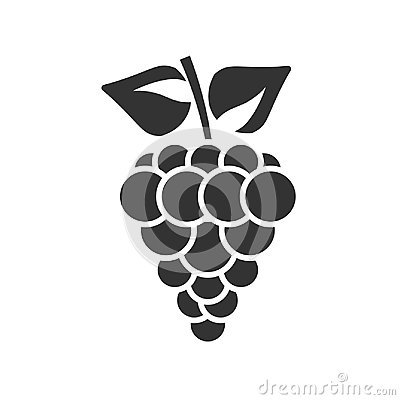 Free Grape Icon Isolated On White Background. Stock Photos - 95499793