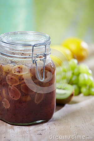 Grape and kiwi homemade jam