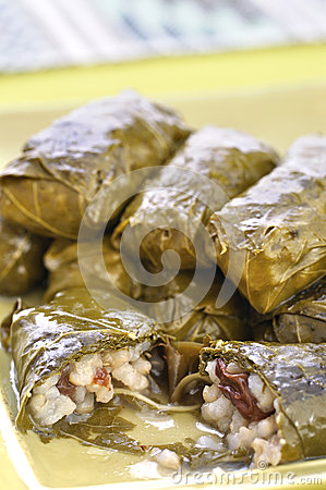 Grape leaf dolmades