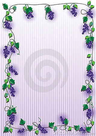 Grape Purple Frame_eps Stock Photography - Image: 22398512