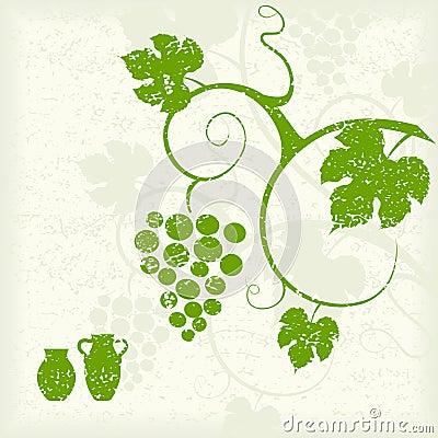 Grape vine background. Vector Illustration