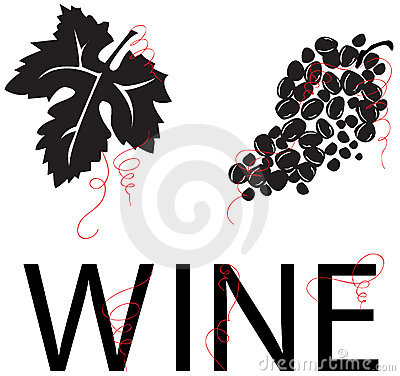 Grape Vine: Leaf, Grapes, & WINE [VECTOR]